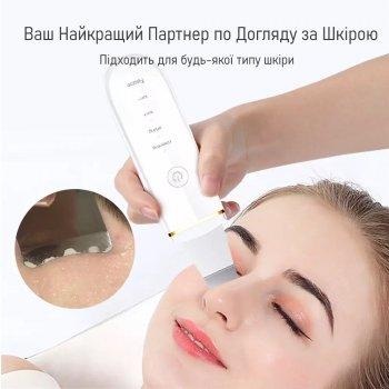 Ультразвуковой скрабер для чистки, лифтинга и тонизации кожи лица с Функцией EMS LURNOFY (7C-CPY01)