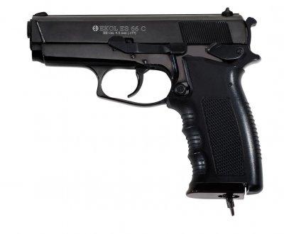 Пневматический пистолет EKOL ES66 Black CO2, 4.5 мм Ekol Черный