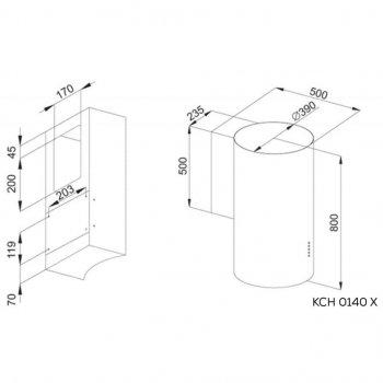 Витяжка кухонна Kernau KCH 0140 X