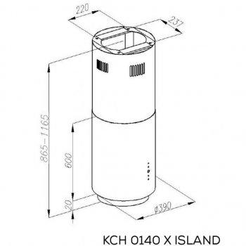 Витяжка кухонна Kernau KCH 0140 X ISLAND