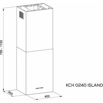 Витяжка кухонна Kernau KCH 0240 B ISLAND