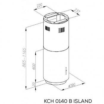 Витяжка кухонна Kernau KCH 0140 B ISLAND