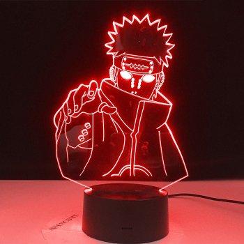 Настільний світильник-нічник Пейн Akatski - Naruto Pain Akatsuki 16 кольорів 3D USB (8220)