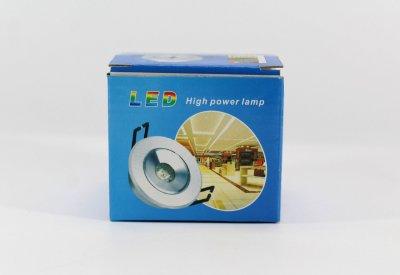 Лампочка LED LAMP 3W Врезная круглая точечная 1401 UKC