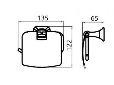 Тримач для туалетного паперу закритий AQUA RODOS Бостон 1204 хром