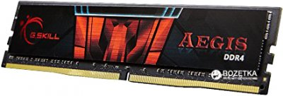 Оперативна пам'ять G.Skill DDR4-3000 16384MB PC4-24000 (Kit of 2x8192) Aegis (F4-3000C16D-16GISB)