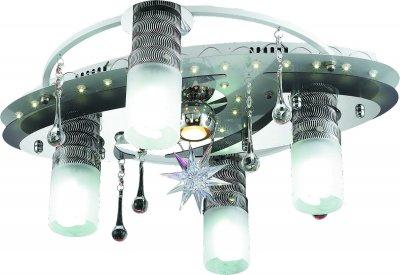 Стельовий світильник Altalusse LV206-05 White & Chrome 5х40Вт+Mr11 1х20Вт+LED