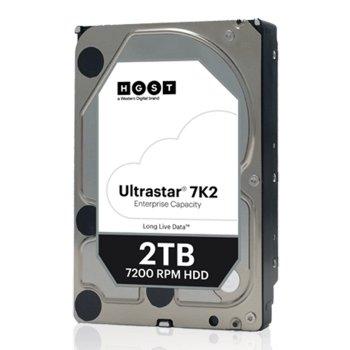 Накопичувач HDD SATA 2.0 TB Hitachi (HGST) Ultrastar 7K2 7200rpm 128MB (HUS722T2TALA604/1W10002)