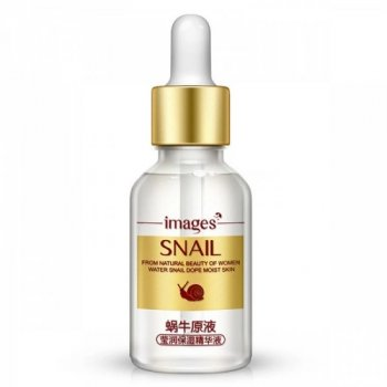 Ампульная сыворотка Images Snail с улиточной слизью и гиалуроновой кислотой от морщин и сухости 15 мл
