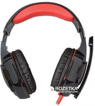 Навушники Real-El GDX-8000 Vibration Surround 7.1 BackLit Black-Red (EL124100017)