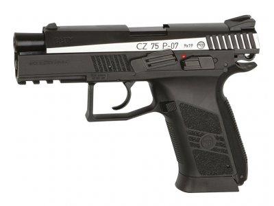 Пістолет пневматичний ASG CZ 75 P-07 Duty Blowback. Корпус - метал. 23702518