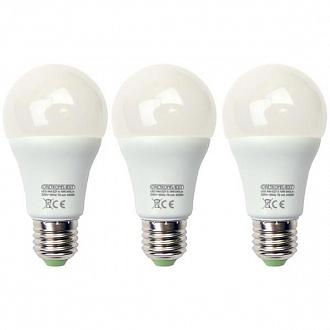 Лампа LED Светкомплект A60 10 Вт E27 3000K 3 шт