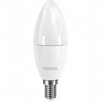 Лампа Maxus LED C37 CL-F 6 Вт E14 3000 K тепле світло