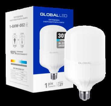 Світлодіодна лампа високопотужна Maxus Global 1-GHW-002 30W 6500K E27 (58281)