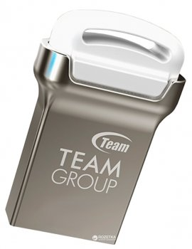 Team C161 USB 2.0 16GB Silver-White (TC16116GW01)