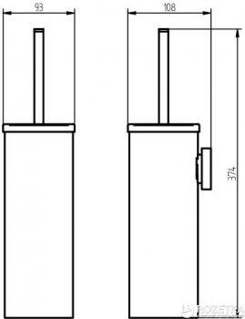 Йоршик для унітазу HACEKA Kosmos White (402820)