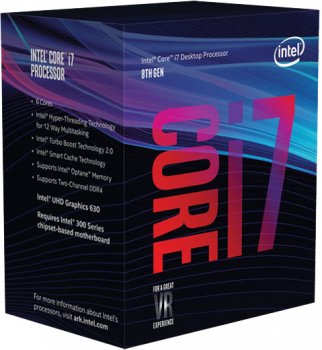 Процесор Intel Core i7-8700 3.2GHz/8GT/s/12MB (BX80684I78700) s1151 BOX