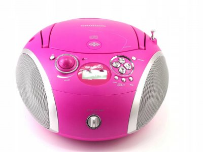 Радіоприймач бумбокс CD MP3 USB Grundig (RCD1445) Pink