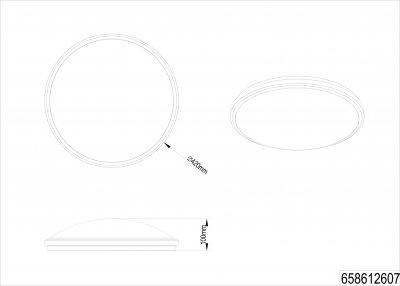 Потолочный светильник Trio Contender (658612607)