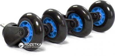 Ролики для офісних крісел AKRacing PU комплект 5 шт. Сині (Big PU wheels blue)