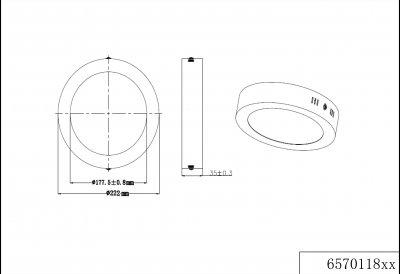 Стельовий світильник Trio Cento (657011807)