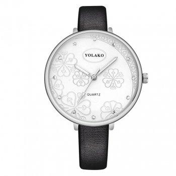 Женские классические часы Yolako, циферблат - белый, арт. (41321)