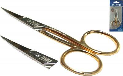 Ножницы маникюрные для ногтей Zauber-manicure Premium золотые 01-118 (4004904001183)