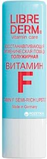 Восстанавливающая гигиеническая помада полужирная Librederm Витамин F 4 г (4620002185510)