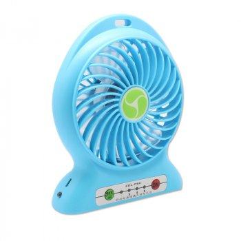 Вентилятор акумуляторний настільний Plymex Синій F002