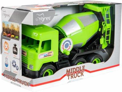 Бетономешалка Tigres Middle truck Зеленая (39485)
