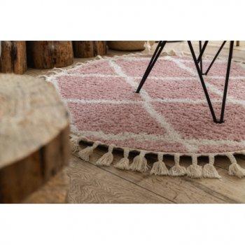 Килим Лущув Berber 120 см рожевий круглий (GR2837)