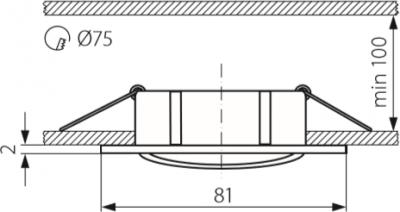 Світильник точковий Kanlux Navi CTX-DT10-B (KA-25991)
