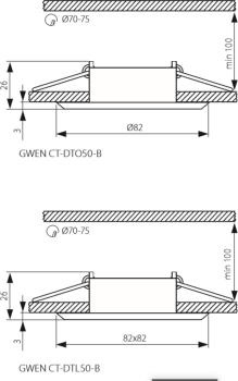 Світильник точковий Kanlux Gwen CT-DTO50-B (KA-18531)