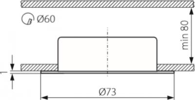 Світильник точковий Kanlux CT-2116B-W Gavi (KA-810)