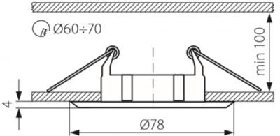 Світильник точковий Kanlux CTC-5514-SN/N BASK (KA-2816)