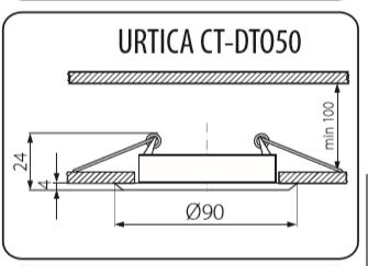 Світильник точковий Kanlux Urtica CT-DTO50-AB (KA-19550)