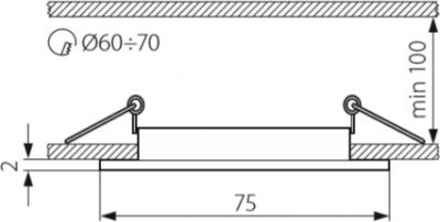 Світильник точковий Kanlux Navi CTX-DS10-B (KA-25990)