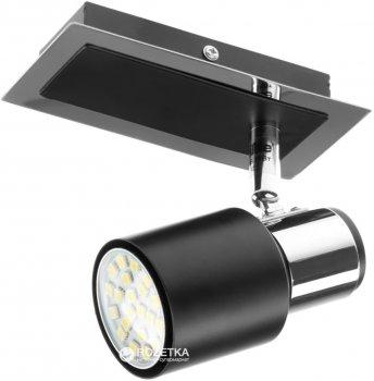 Світильник спот Brille HTL-178/1 GU10 CH+BK (26-703)