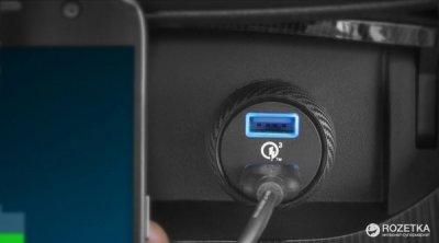 Автомобільний зарядний пристрій Anker PowerDrive+ 2 Quick Charge 3.0 V3 Black (A2228H11)
