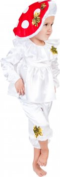 Карнавальный костюм Сашка Гриб-мухомор НГ-140 92-98 см Белый (971604)