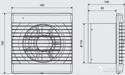Витяжний вентилятор SOLER&PALAU DECOR-200 C