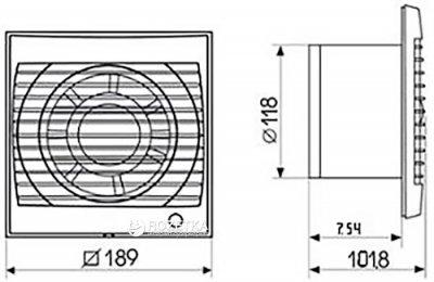Витяжний вентилятор SOLER&PALAU FUTURE-120 C
