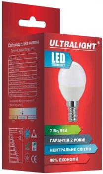 Світлодіодна лампа Ultralight LED P45 7W 4100K E14 (UL-49144)