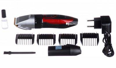 Бездротова машинка для стрижки волосся Gemei GM 550 з двома акумуляторами