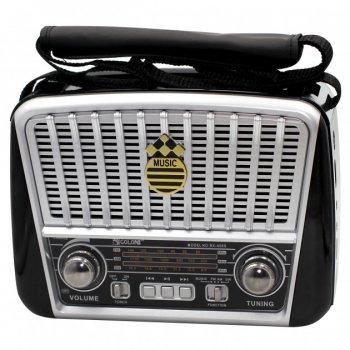 Радіо Ретро Golon RX-456S Портативна колонка з сонячною панеллю ліхтарик power bank (47064)