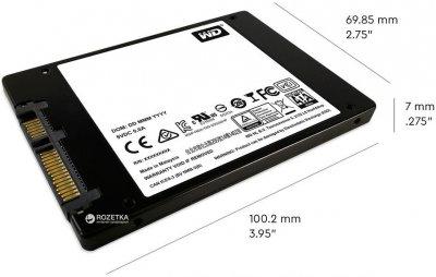 """Western Digital Blue SSD 2TB 2.5"""" SATAIII 3D NAND (WDS200T2B0A)"""