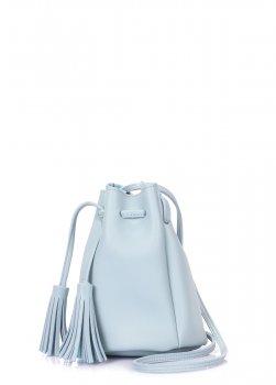 Голубая сумка на завязках Poolparty Голубой minisobucketbabyblue