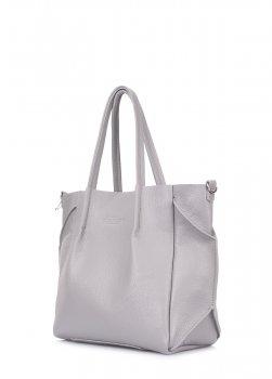 Кожаная сумка Poolparty Soho Remix grey