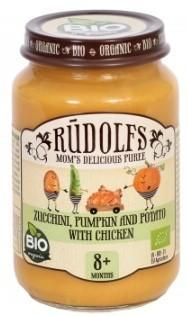 Пюре Rudolfs Овочі з куркою, 190 г (090438)