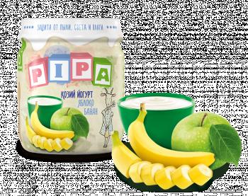 Пюре PiPa Яблуко та банан з козячим йогуртом, 100 г (237361)